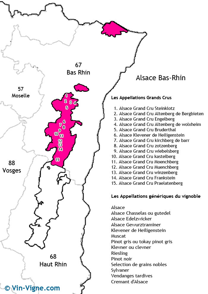 carte des vins du bas-rhin