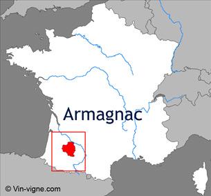 Carte viticole du vignoble d'Armagnac