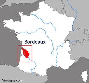 Carte viticole du vignoble de Bordeaux