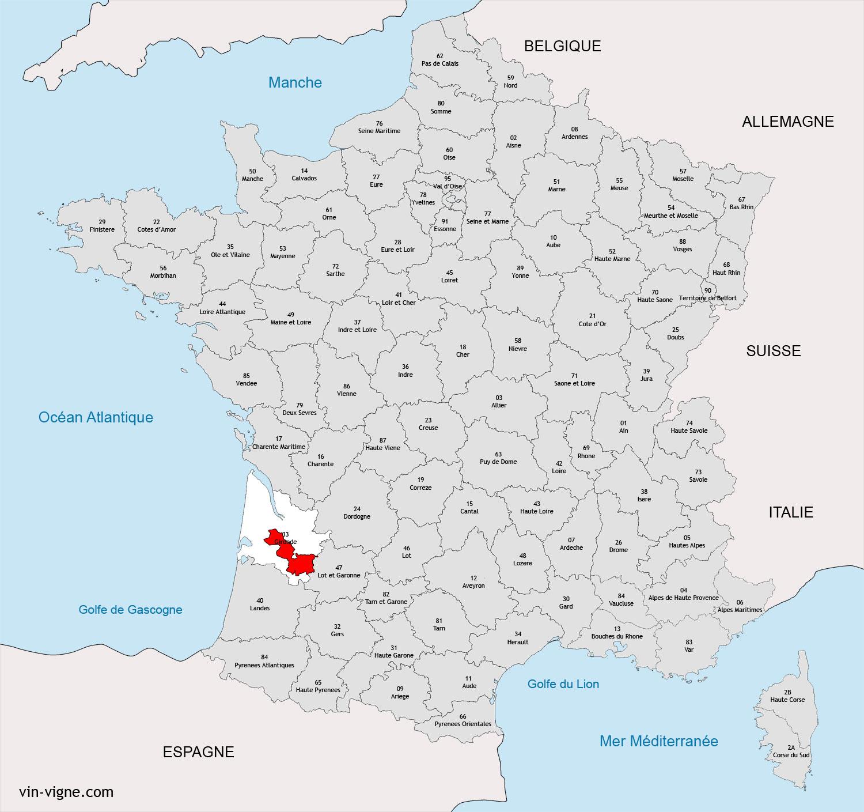 Connu Liste des régions viticoles Françaises - Vin-Vigne.com AR99