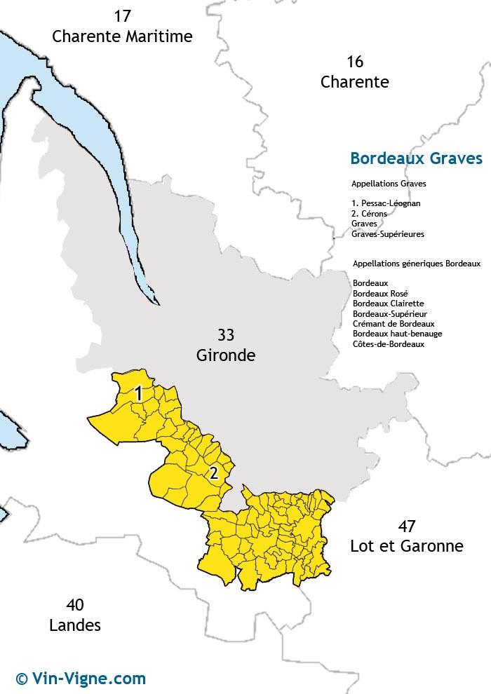 carte des vins de graves