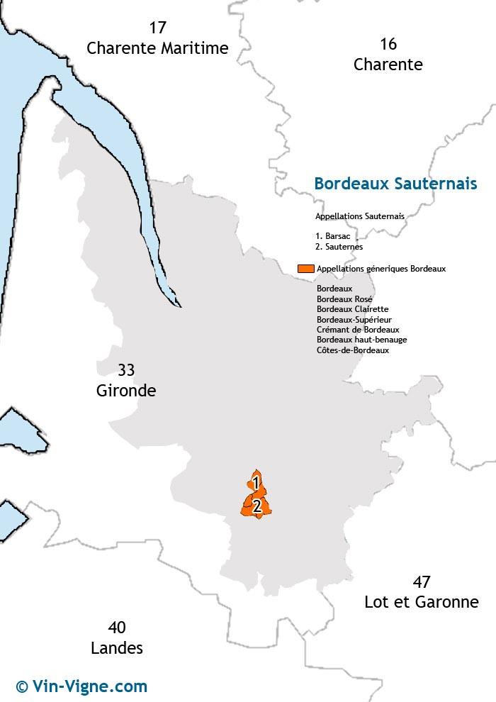 carte des vins de sauternes