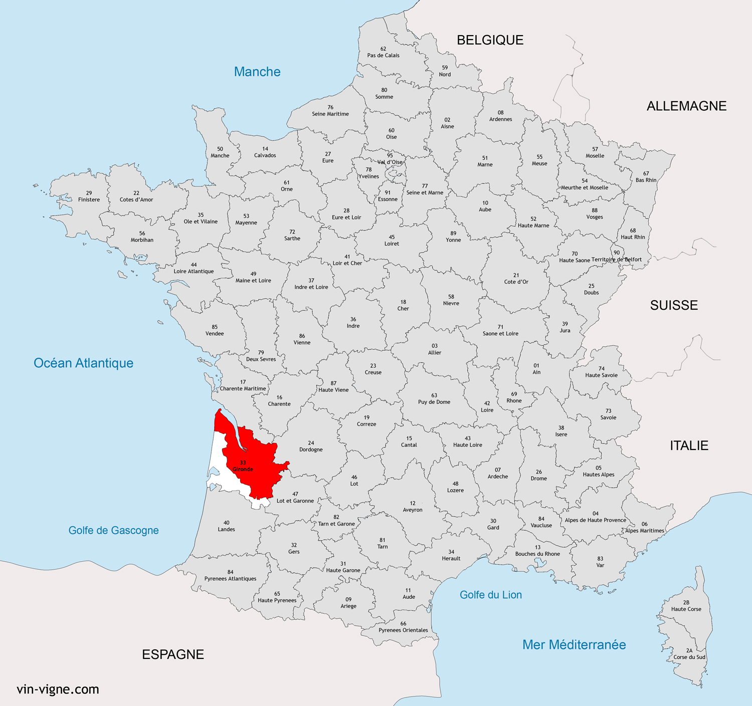 carte de france bordeaux