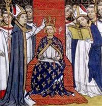 Miniature Philippe III CourronementMiniature Philippe III Courronement