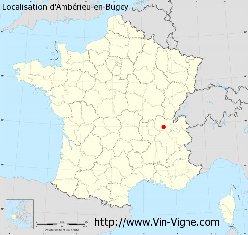 Carte d'Ambrieu-en-Bugey