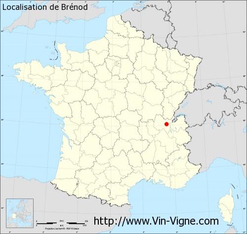 Carte de Brénod