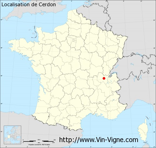 Carte de Cerdon
