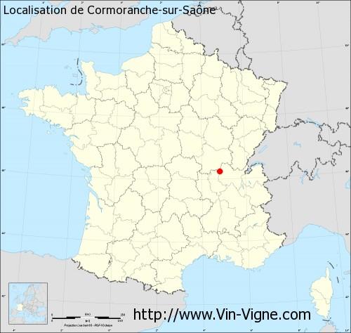 Carte de Cormoranche-sur-Saône