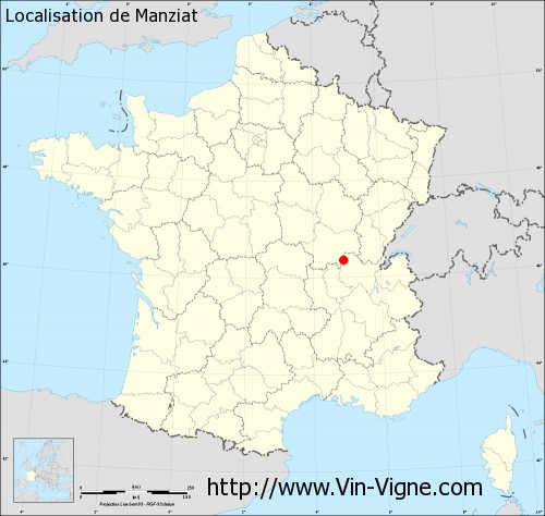 Carte de Manziat