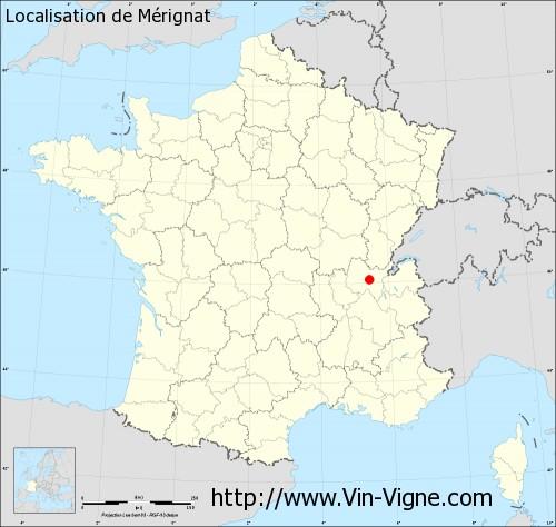 Carte de Mérignat
