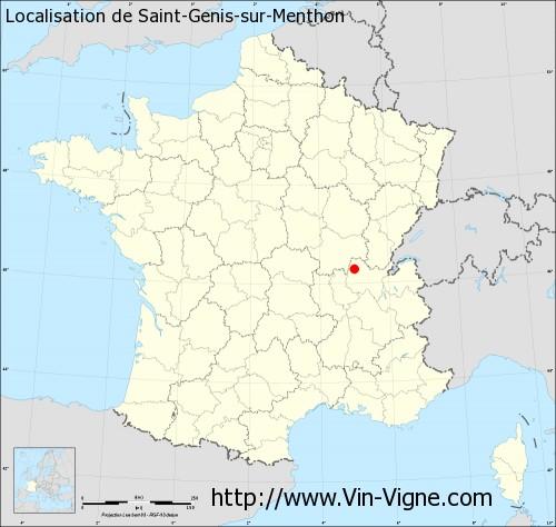 Carte de Saint-Genis-sur-Menthon
