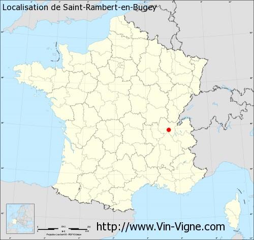 Carte de Saint-Rambert-en-Bugey