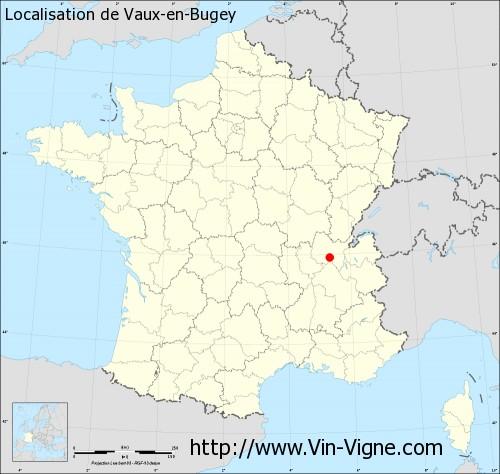 Carte de Vaux-en-Bugey