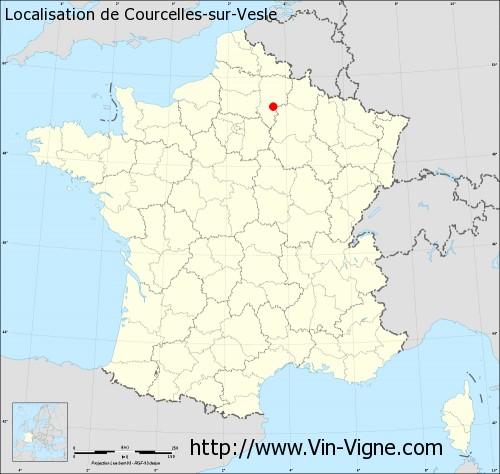Carte de Courcelles-sur-Vesle