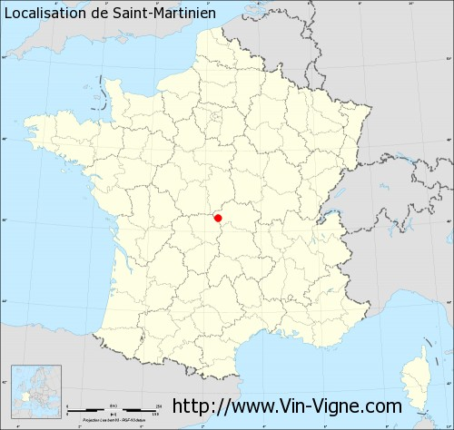 Carte de Saint-Martinien