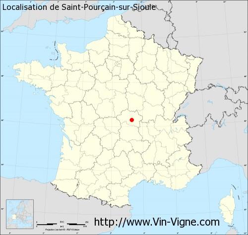 Carte de Saint-Pourçain-sur-Sioule
