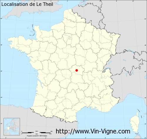 Carte de Le Theil