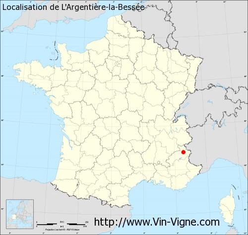 Carte de L'Argentière-la-Bessée