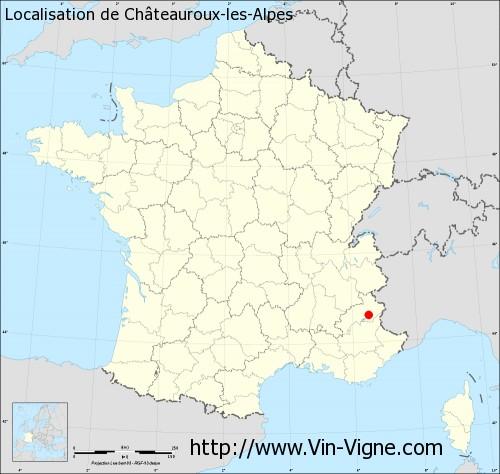 Carte de Châteauroux-les-Alpes