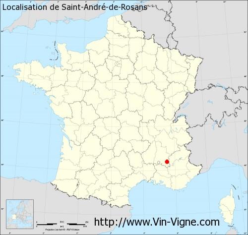 Carte de Saint-André-de-Rosans