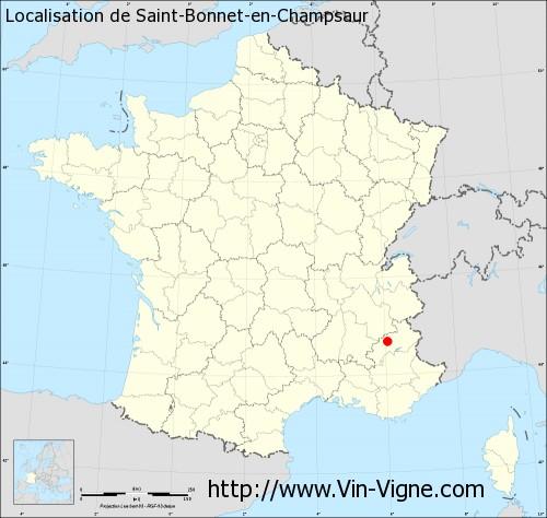 Carte de Saint-Bonnet-en-Champsaur