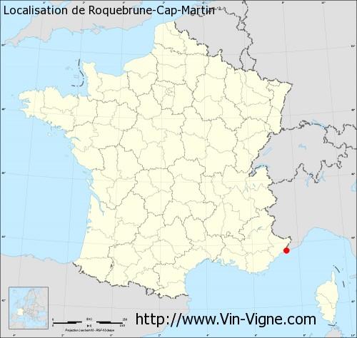 Carte de Roquebrune-Cap-Martin