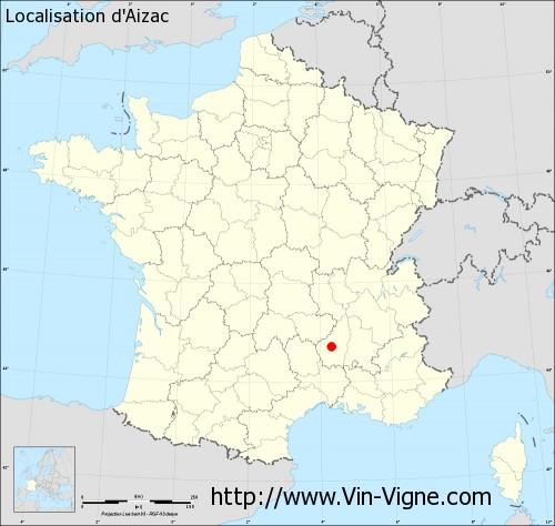 Carte d'Aizac