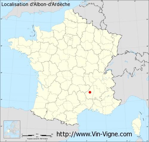 Carte d'Albon-d'Ardèche