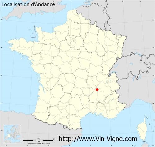 Carte d'Andance