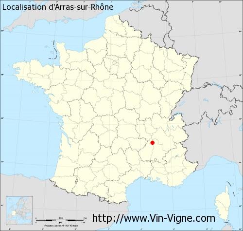 Carte d'Arras-sur-Rhône