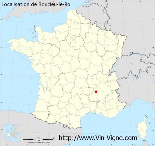 Carte de Boucieu-le-Roi