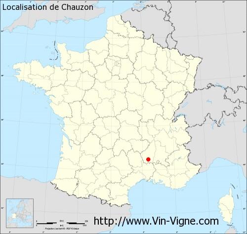 Carte de Chauzon