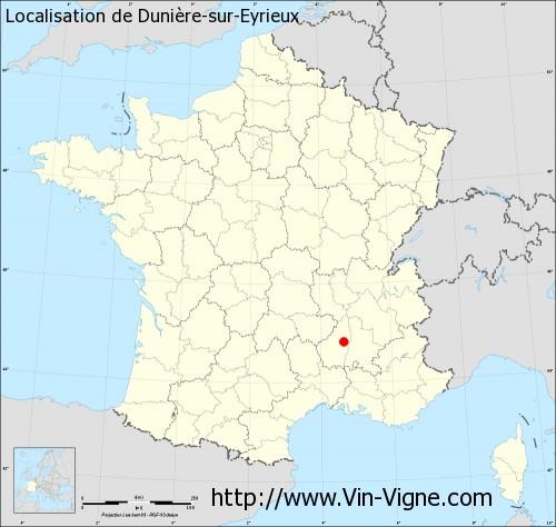 Carte de Dunière-sur-Eyrieux