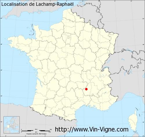 Carte de Lachamp-Raphaël