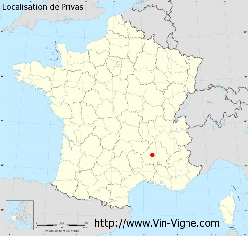 Carte  de Privas