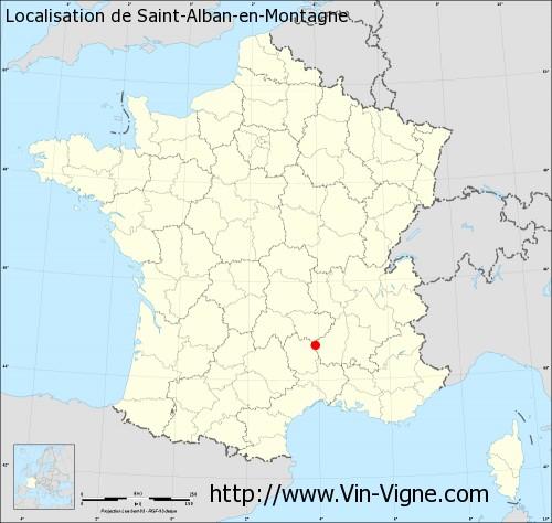 Carte de Saint-Alban-en-Montagne