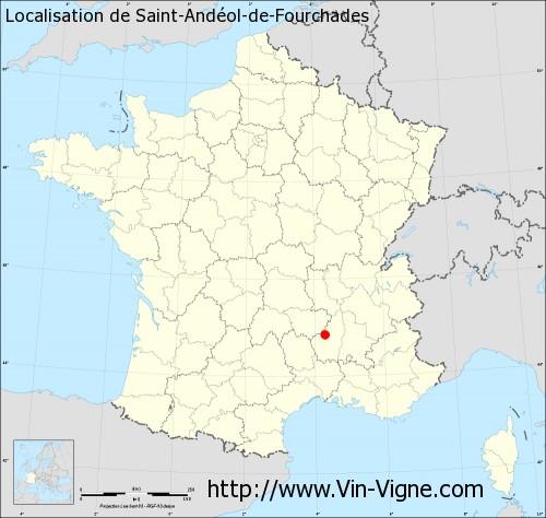 Carte de Saint-Andéol-de-Fourchades