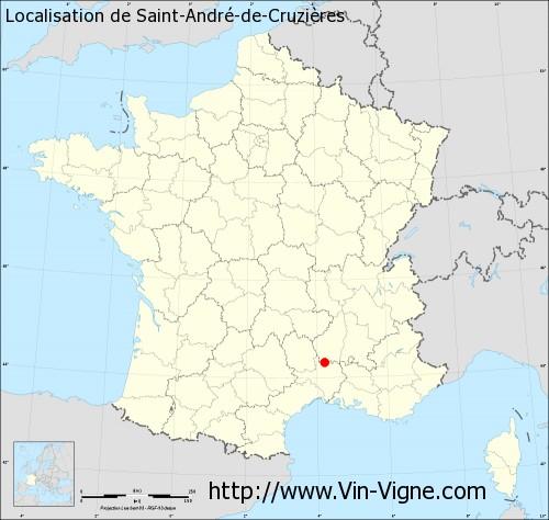 Carte de Saint-André-de-Cruzières