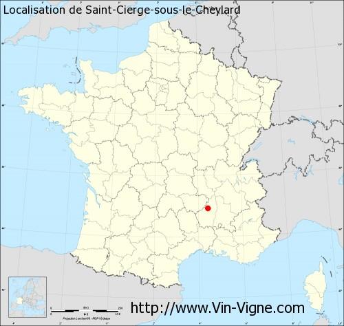 Carte de Saint-Cierge-sous-le-Cheylard