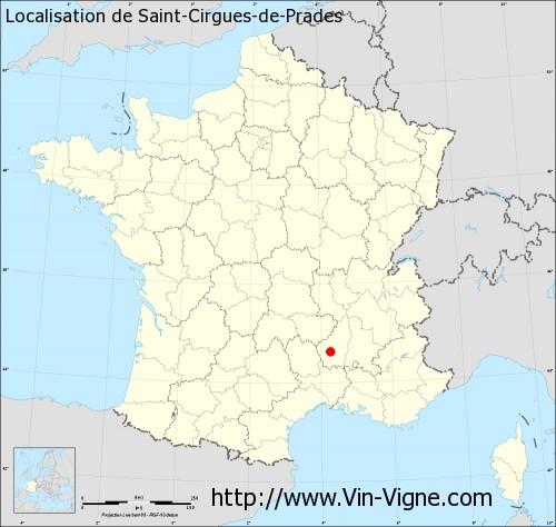 Carte de Saint-Cirgues-de-Prades