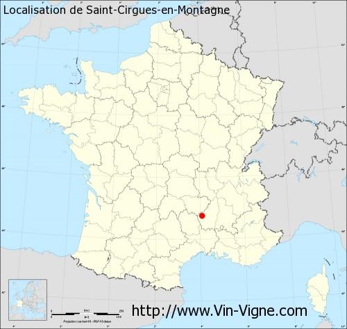 Carte de Saint-Cirgues-en-Montagne