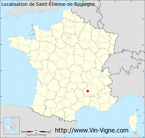 Carte de Saint-Étienne-de-Boulogne