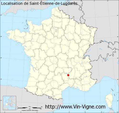 Carte de Saint-Étienne-de-Lugdarès