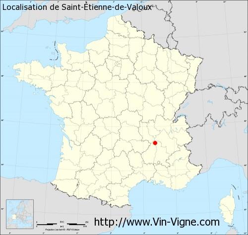 Carte de Saint-Étienne-de-Valoux