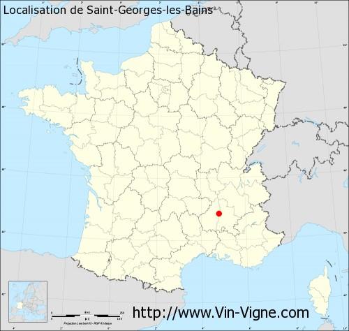 Carte de Saint-Georges-les-Bains