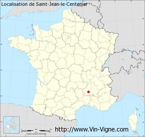Carte de Saint-Jean-le-Centenier