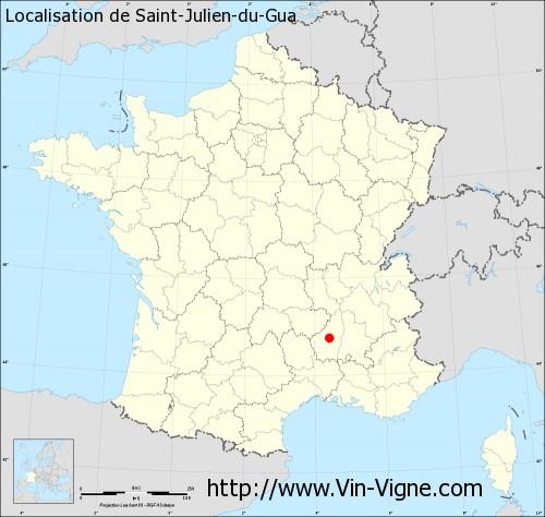 Carte de Saint-Julien-du-Gua