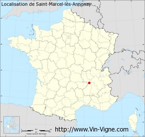 Carte de Saint-Marcel-lès-Annonay