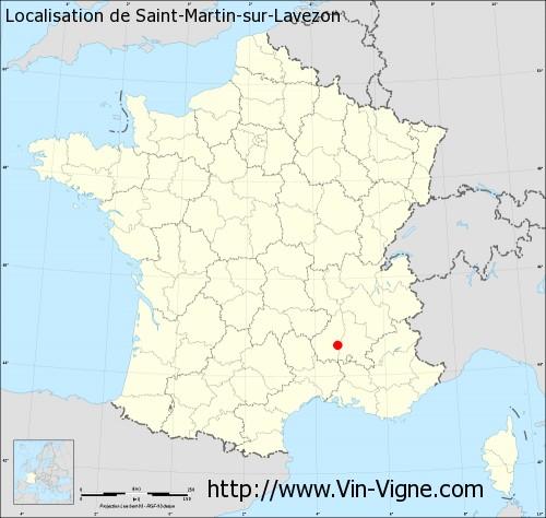 Carte de Saint-Martin-sur-Lavezon