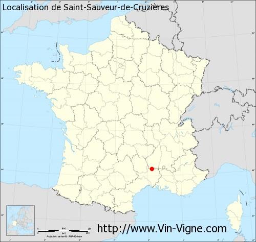 Carte de Saint-Sauveur-de-Cruzières